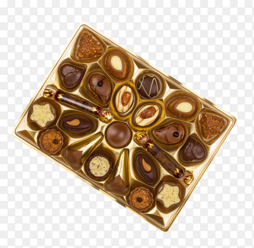 Chocolate box isolated on transparent background PNG