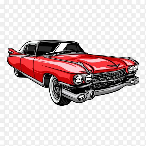 Classic car illustration on transparent background PG