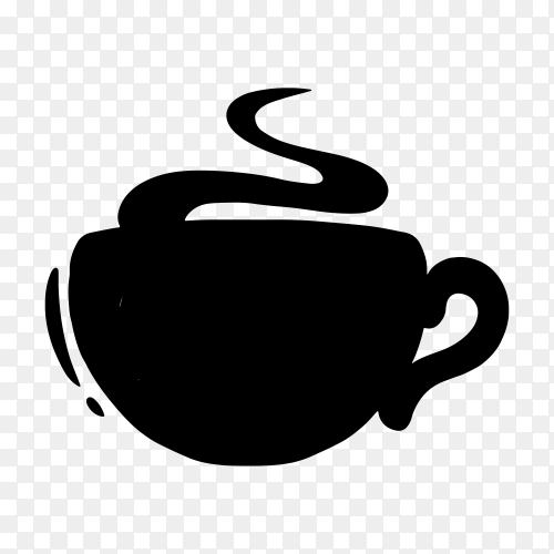 Coffee logo on transparent background PNG
