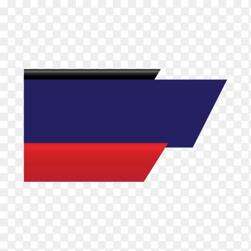 Colorful sale banner design template on transparent background PNG