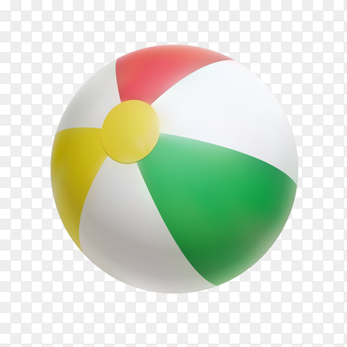 Colorful sporty ball on transparent background PNG