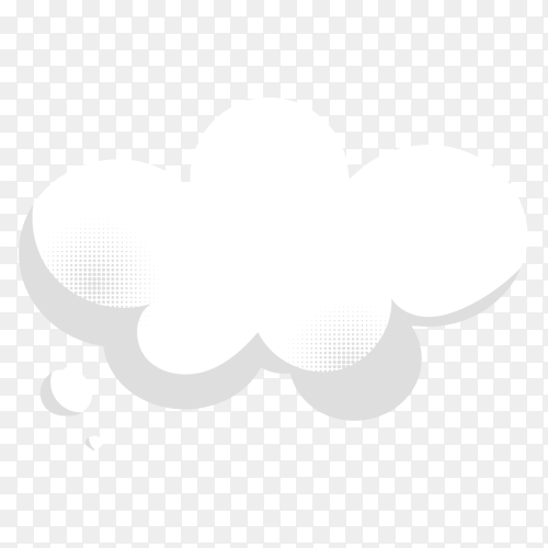Comic chat bubble isolated on transparent background PNG