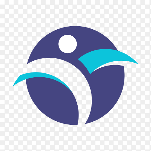 Creative physiotherapy logo design on transparent background PNG