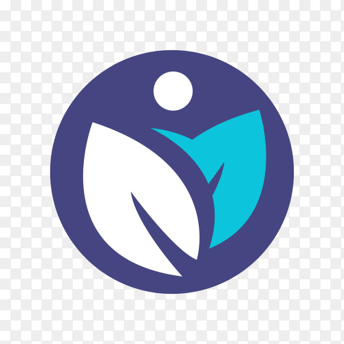 Creative physiotherapy logo on transparent background PNG