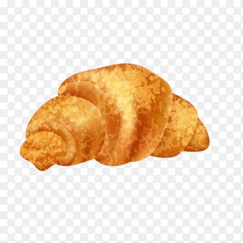 Delicious croissant on transparent background PNG