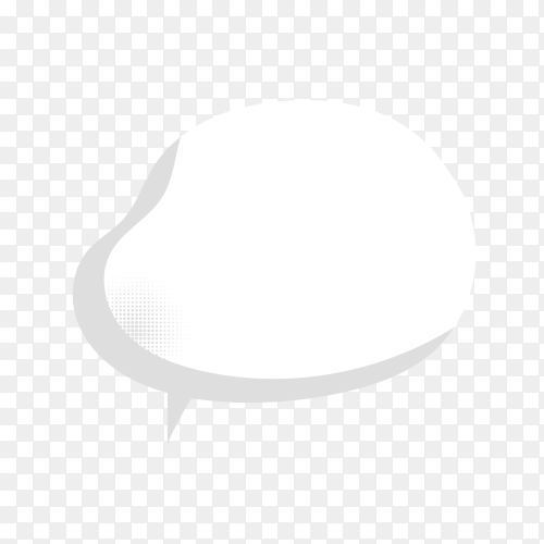 Doodle blank speech bubble on transparent background PNG