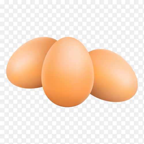 Eggs isolated on transparent background PNG