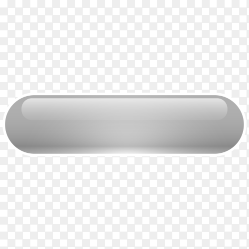 Gray Glossy web button on transparent background PNG