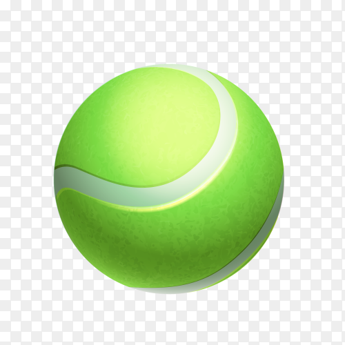 Green ball isolated on transparent background PNG