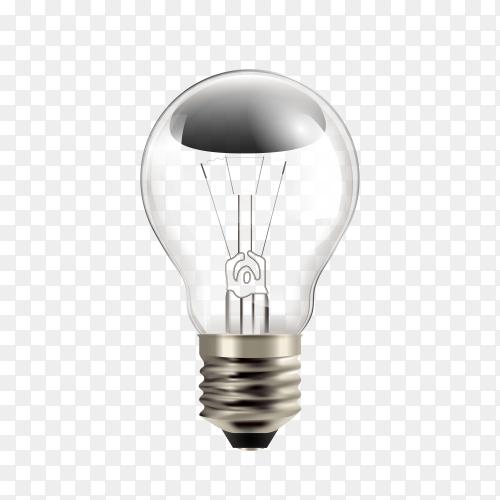 Light bulb on transparent background PNG