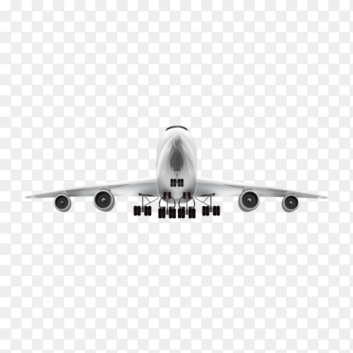 Plane isolated on transparent PNG