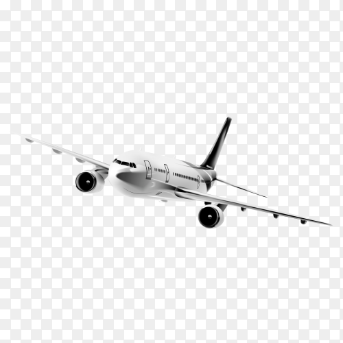 Realistic plane isolated on transparent background PNG