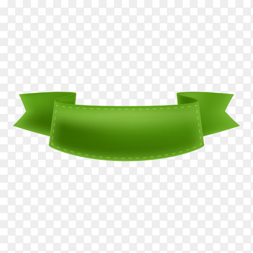 Realistic ribbon on transparent background PNG
