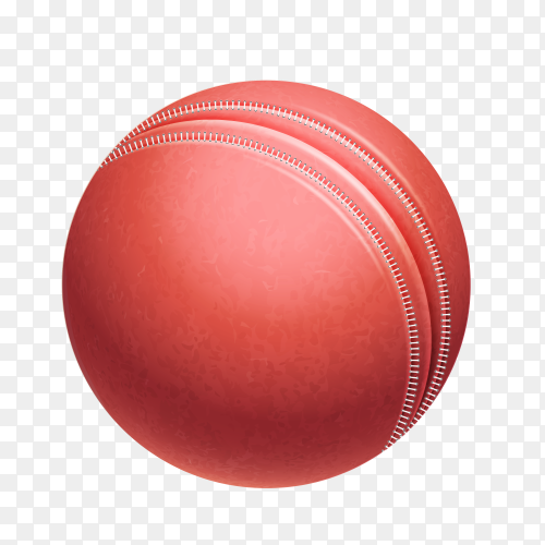 Red ball isolated on transparent background PNG