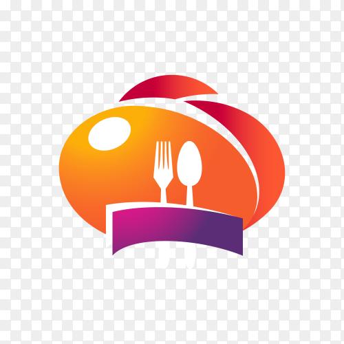 Restaurant logo template on transparent background PNG