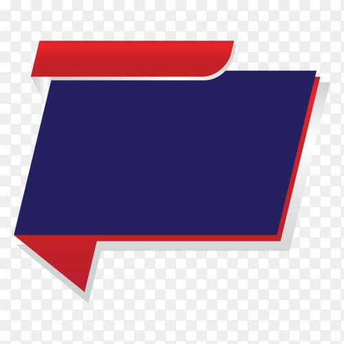 Sale banner promotion tag design marketing on transparent background PNG