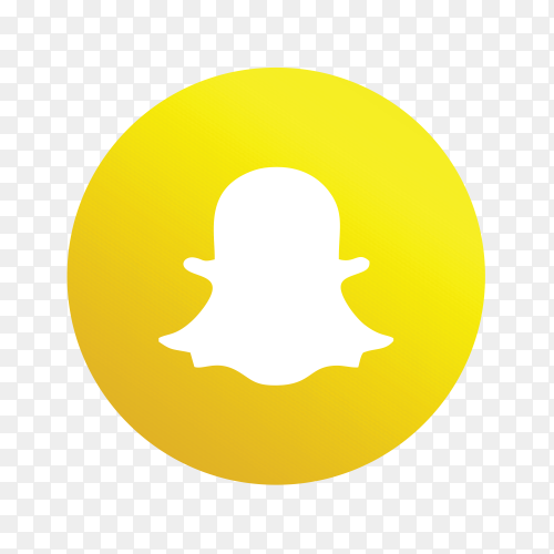 Snap chat icon design on transparent background PNG