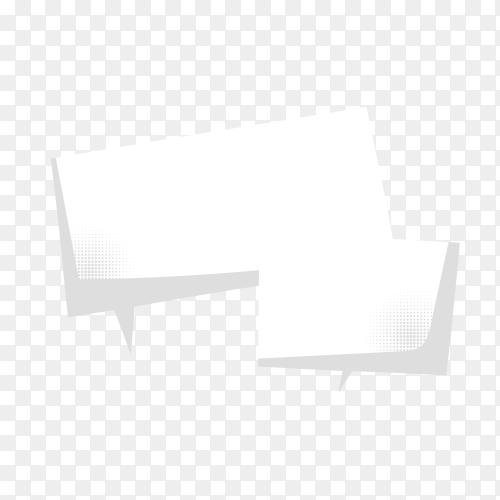 Speech bubble isolated on transparent background PNG