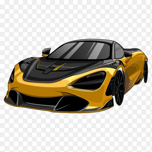 Sport car on transparent PNG