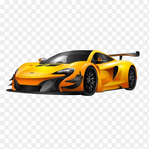 Sporting car illustration on transparent background PNG