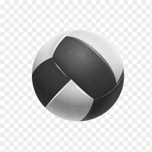 Volleyball ball on transparent background PNG