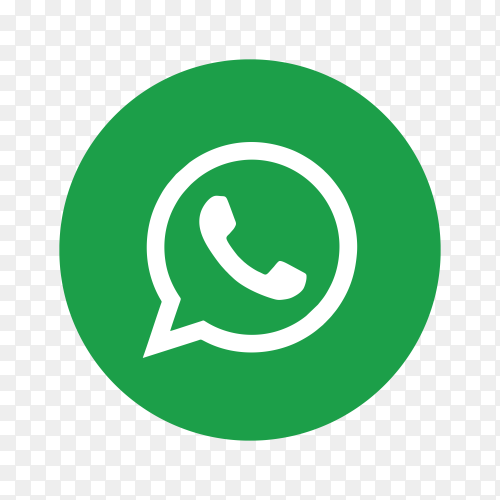 Whatsapp icon design on transparent background PNG