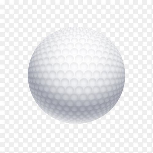 White golf ball on transparent background PNG