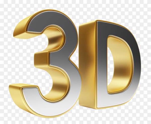 3d gold symbol PNG