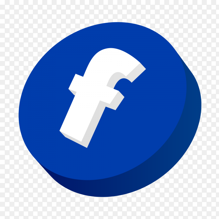 Facebook 3d icon - Facebook 3d logo PNG - Similar PNG