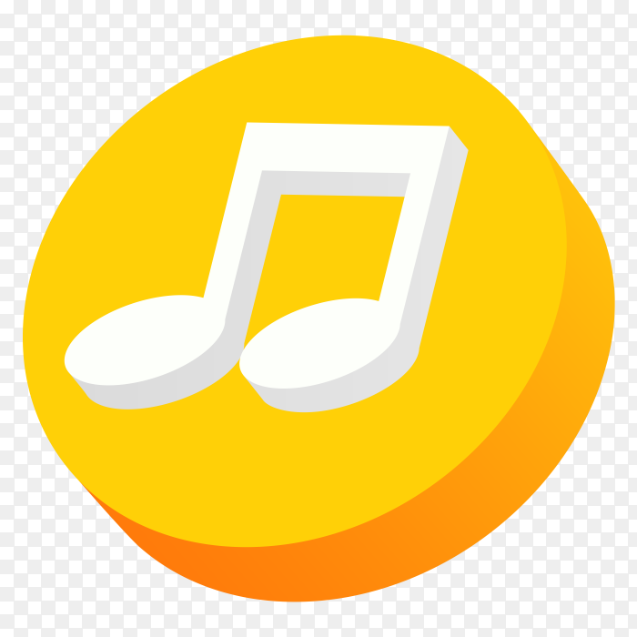 3d logo music icon PNG