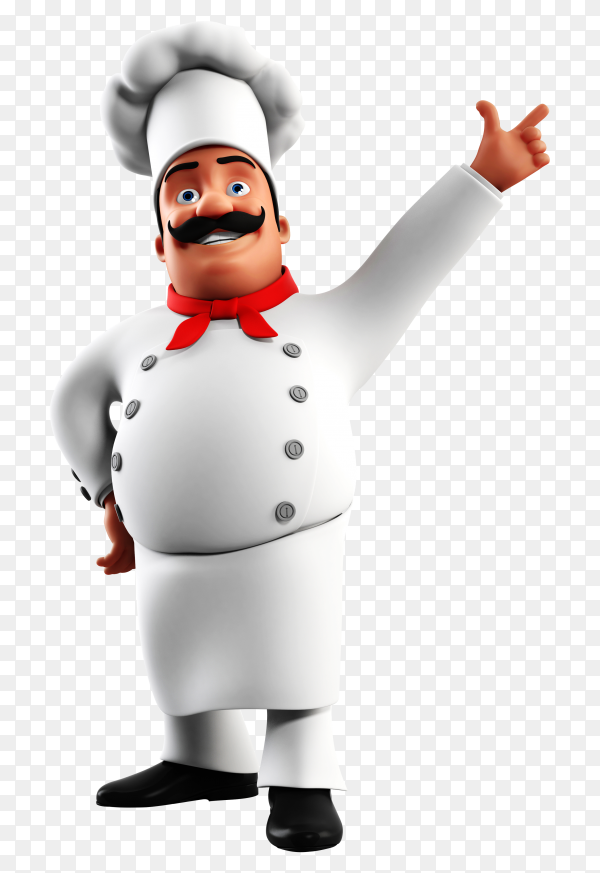 3D rendered illustration of a kitchen chef PNG