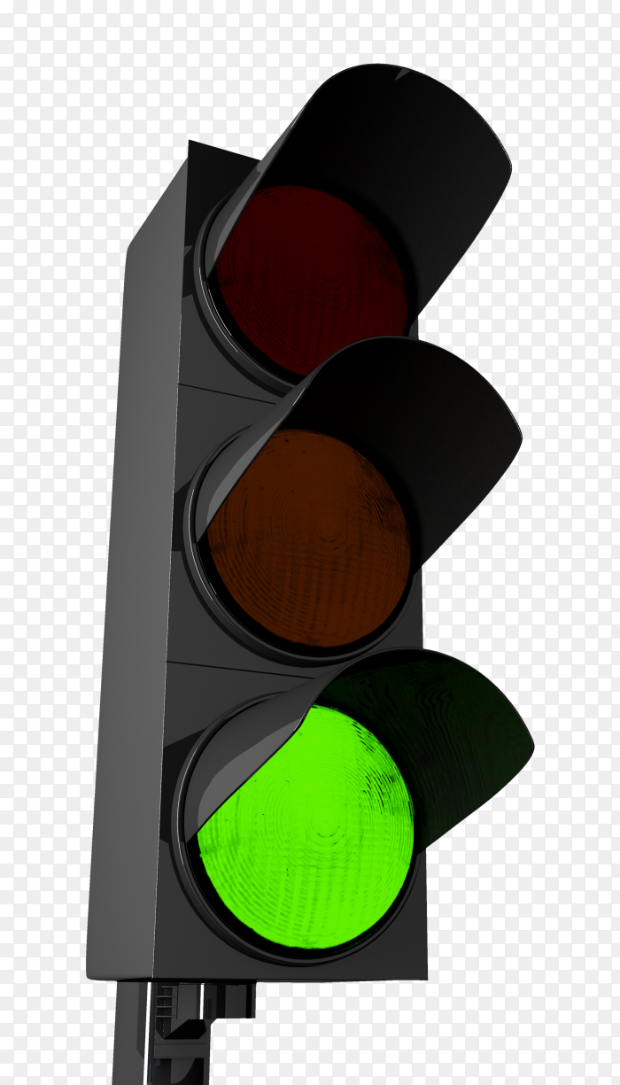 Traffic light with green color PNG