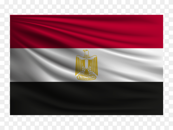 The national flag of Egypt PNG
