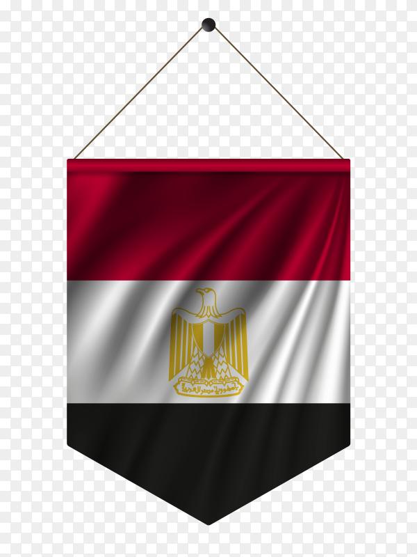 Egypt flag vector illustration PNG