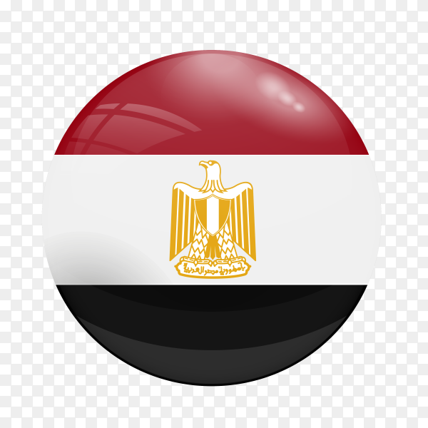 Egypt flag button PNG