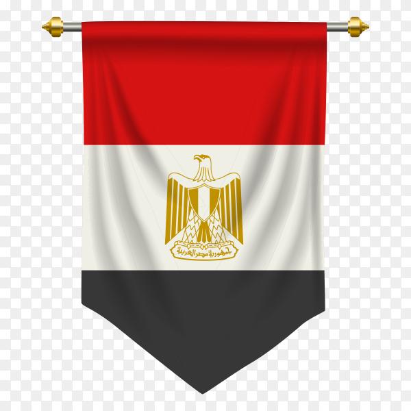 Egypt flag pennant transparent PNG
