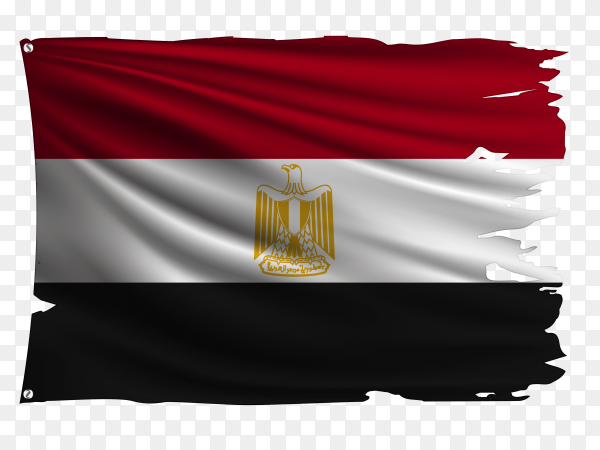 Egypt Flag with torn edges PNG