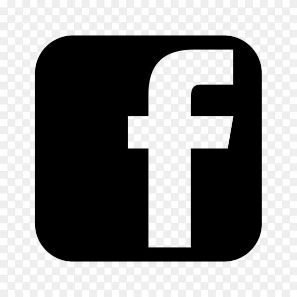 Facebook logo balck social media PNG