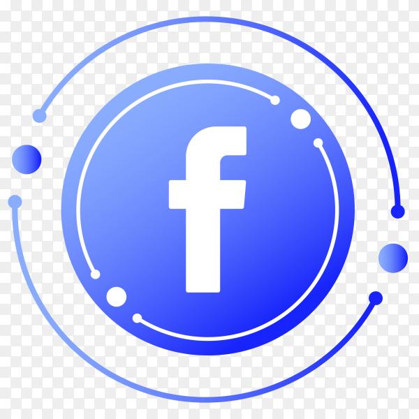 Facebook logo gradient PNG