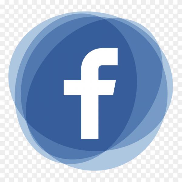 Facebook logo social media icons multiply ellipse PNG