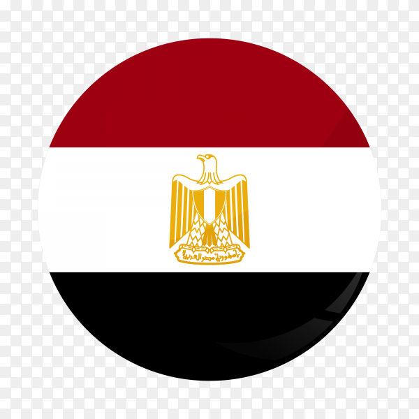 Flag Egypt circle PNG