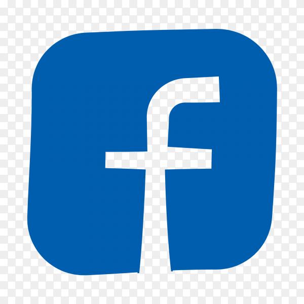 Flat logo Facebook PNG