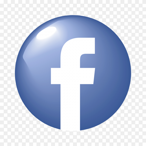 Glossy facebook icon PNG