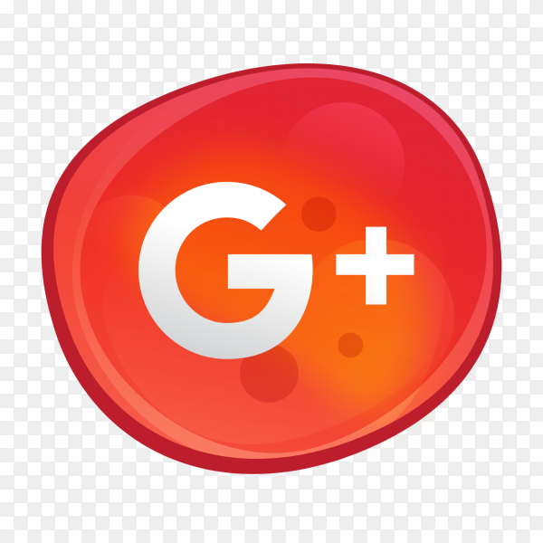 Google Plus logo bubble style social media icon PNG