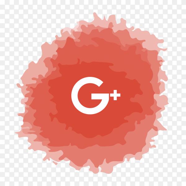GooglePlus logo watercolor social media PNG
