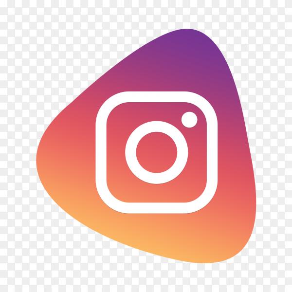 Instagram logo button social media PNG