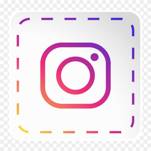 Instagram logo icon social media sticky paper PNG