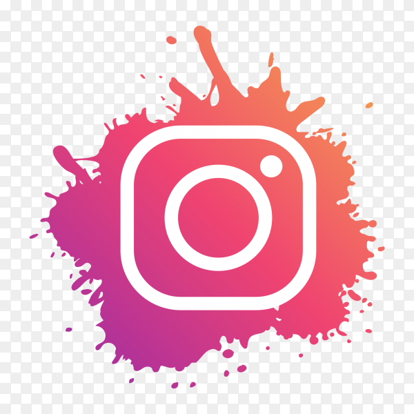 Instagram logo modern paint splash social media PNG