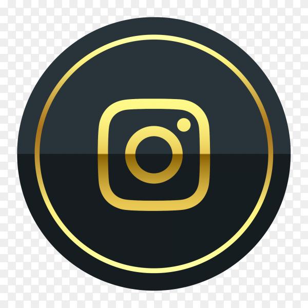 Instagram logo premium of golden PNG