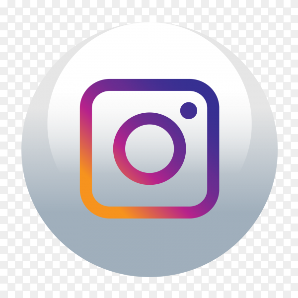 Instagram logo round social media icon PNG
